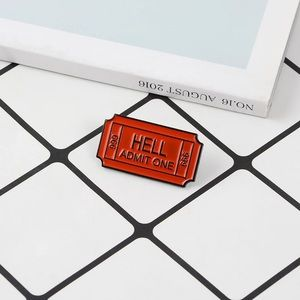 🎉 Hell Admit One 666 Ticket Pin